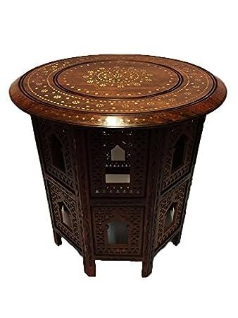 Indischer Tisch orientalischer indischer couchtisch tisch caglanur gross 60cm xl