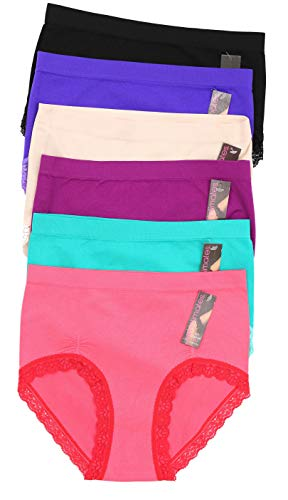 - Just Intimates 6P-33016-XXL Briefs/Panties for Women (Pack of 6)