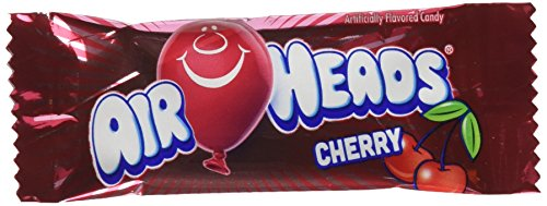 AirHeads Fruit Bars Mini Bulk Case, Cherry, Non Melting, 8 Pound