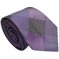 Gravata Slim Trabalhada Xadrez Importada Lilás Quadriculado