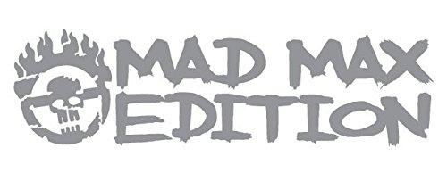 (Mad Max Edition Fury Road Inspired Wide Style Grunged War Boy Logo Die-Cut Vinyl Decal - Medium - Gray)