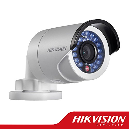 Hikvision DS-2CD2032-I Fixed Focal Lens Mini Bullet Network Camera 3MP, Full HD 2048X1536, 4mm Lens, True Day / Night, PoE / 12VDC, IR LEDs Up to 30 Meters, IP66 Weatherproof, H.264 / MJPEG, 3D DNR by Home & Tools