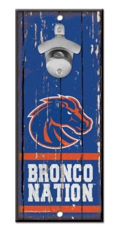 WinCraft NCAA Boise State University Broncos Wood Bottle Opener Sign, 5'' x 11'', Multicolor …