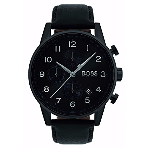 Hugo Boss 1513497 Black 44mm Stainless Steel Navigator Men's Watch
