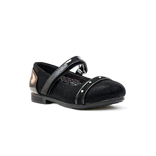 Walkright–Filles Walkright Effet Velours Noir Diamante chaussures - Noir - noir, 31-31,5 EU enfant