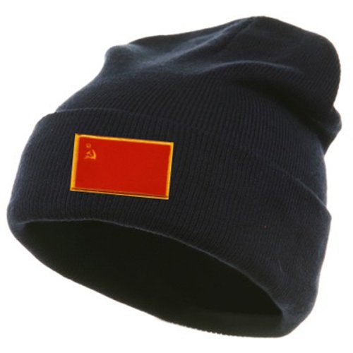 (Ussr Soviet Union Cccp Flag Country Embroidery Embroided Cap Hat Beanie)