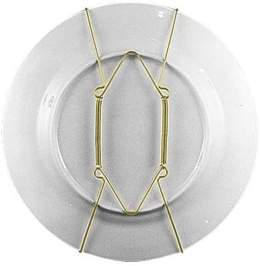 """Set of 3 Brass Plate Hanger Displays Plates on Wall Size 8/"""" to 11/"""" in diameter"""