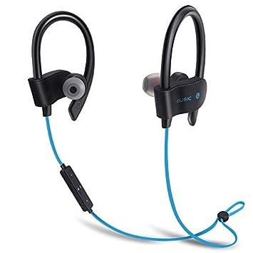 Miya - Auriculares inalámbricos Bluetooth deportivos impermeables para iPhone Xiaomi y Samsung, azul: Amazon.es: Jardín