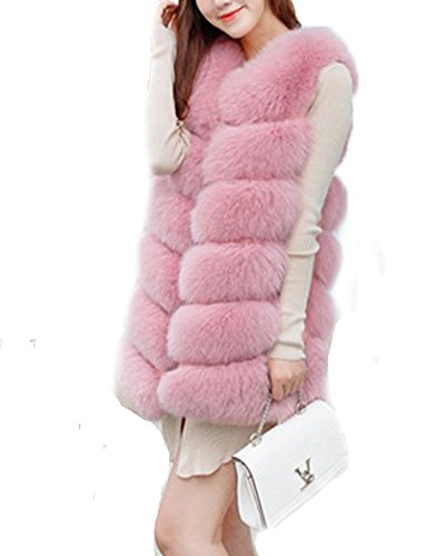 del Rivestimento inverno cappotto di donne faux del del di Rosa delle FOLOBE cappotto di pelliccia xZqUwvdZ5