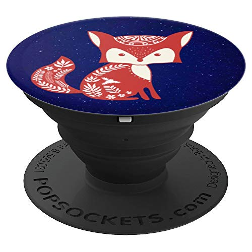 (SCANDINAVIAN FROST FOX Pop Socket Cool Animal Art Gift - PopSockets Grip and Stand for Phones and Tablets)