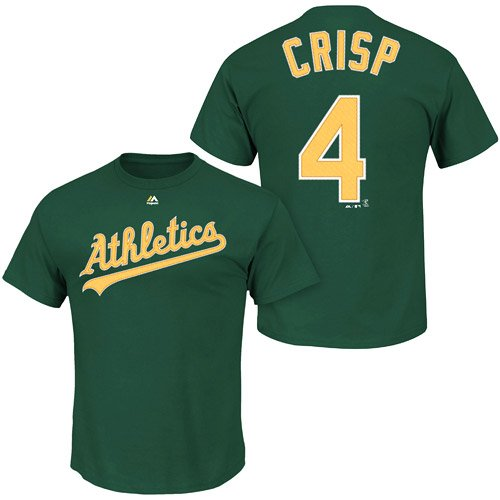 - Majestic Coco Crisp Oakland Athletics #4 MLB Youth Name & Number Player T-shirt Green (Youth XLarge 18/20)