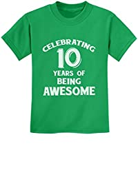 10 Years of Being Awesome! Birthday Gift for 10 Year Old Youth Kids T-Shirt