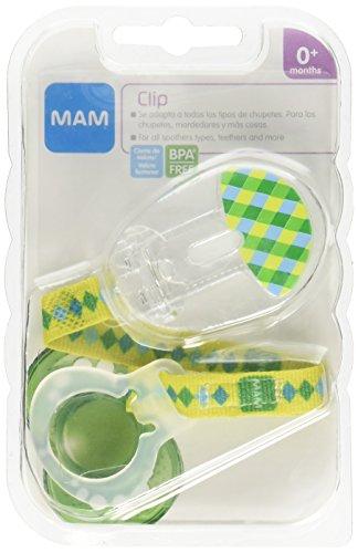MAM Clip para Chupon, 0+ Meses, Verde