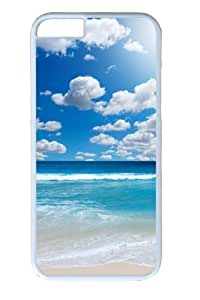 Clear Beach17 Polycarbonate Hard Case Cover For SamSung Galaxy S4 White