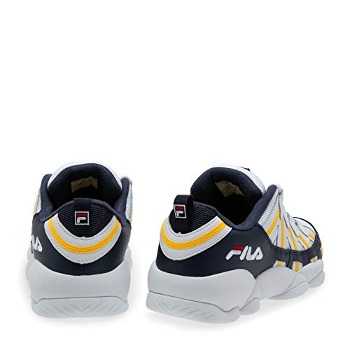 Fila Jerry Stackhouse Low White/Fila Navy/Gold Fusion (7.5 D(M) US) (Jerry Stackhouse Shoes)
