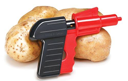 Shooters Pellet (Potato Gun Spud Launcher Toy - Potatoe Spuds Pistol Shooter Shoots Real Potato Pellets - Classic Retro Guns Shoot Potatoes Pellet Up To 100 Shots from One Potato - Shooting Blaster Spud Gun Cannon)