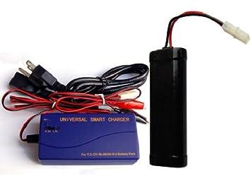 Amazon.com: , 7,2 V, NiCd batería Pack (1500 mAh) + Cargador ...