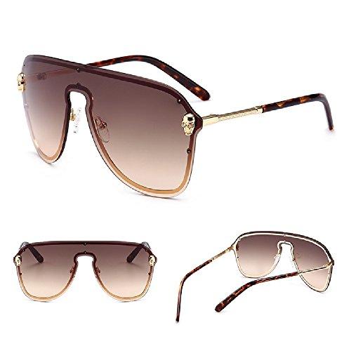 una gafas lente las protector del de CHENHUALos grandes pieza de gafas la caja cráneo de sol de de hombres C5 sola rodean la de qEfZRU