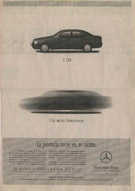 1999 MERCEDES-BENZ C230 KOMPRESSOR SEDAN NEWSPAPER AD - LARGE - MEXICO - SPANISH !! (C230 Kompressor Sedan)