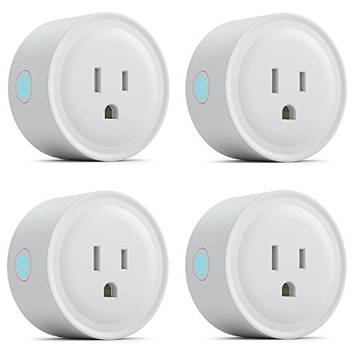 Wifi Smart Plug Mini Smart Outlet Socket Voice controlled by Alexa, Echo, Google Home and IFTTT, Wifi Plug with Timer and Countdown, App Remote Control Anywhere, No Hub Required, 3 Pack (4 pack) by Magic-shop