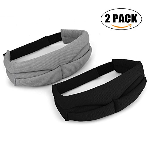 Silk Touch Cover (JANSANE Sleep Eye Mark Cover for Women Men Silk Contoured Adjustable Comfortable Sleeping Eyeshade Blindfold Camping Travel 2 Pack)
