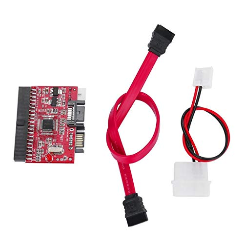 Red Lightweight Durable IDE HDD to SATA Serial ATA Converter Adapter Hard Disk Driver Support for ATA 133 100 HDD CD ()