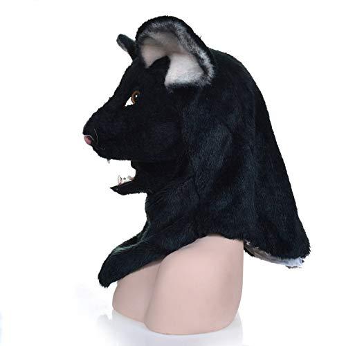 Festa delle Maschere XIANGBAO Maschere di Cosplay di Carnevale Animale di Bocca del Mouse Nero della Maschera commovente ( Colore   nero , Dimensione   2525 )