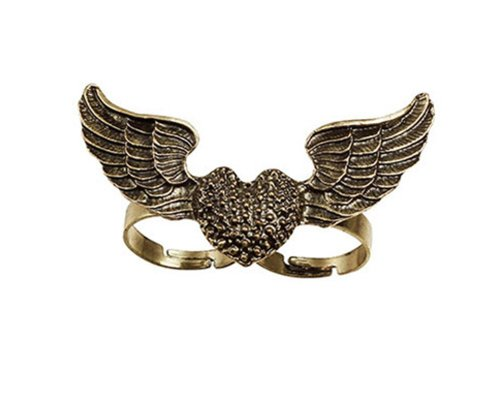 [Fly Wings and Heart Ring -Double Finger Ring] (Fly Costumes)