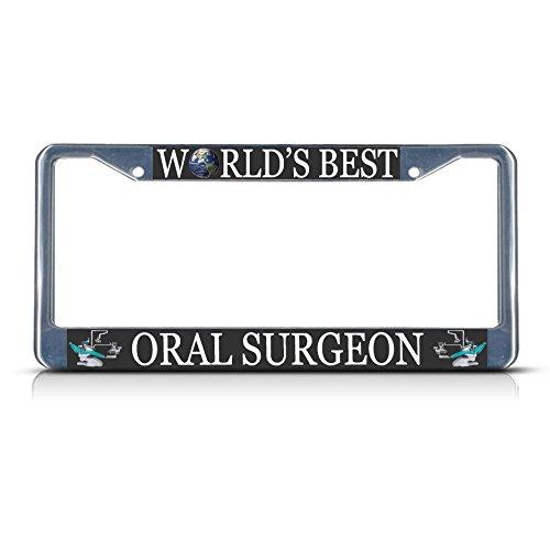 Oral Surgeon Career Profession Metal License Plate Frame