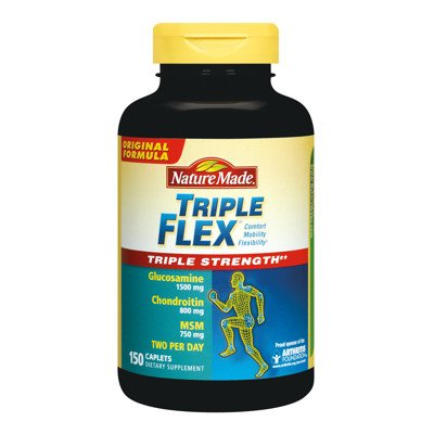 Nature Made TripleFlex - glucosamine chondroïtine et MSM - 150 Capsules
