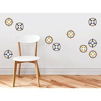 Amazon.com: Bulls Eye Target Wall Decals - Set of 10 Soft ...