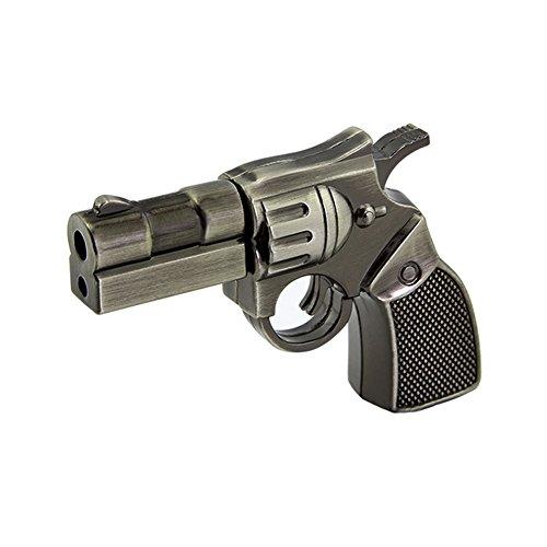 (Usbkingdom 64GB USB 2.0 Flash Drive Cartoon Metal Revolver Pistol Gun Shape Pen Drive Thumb Drive Memory Stick Pendrive Jump Drive Flash Disk)