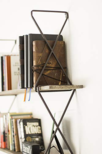 Avignon Home 3 Tier Wall Mounted Hanging Bookshelves Floating Book Shelf Rustic Wood Bookcase For Storage
