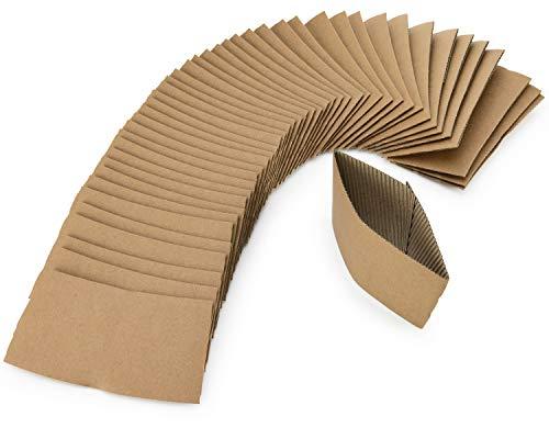 DOBI Coffee Cup Sleeves / (200 PACK) / Brown - Disposable Kraft Paper Hot Cup Sleeves for Coffee, Tea & Hot Chocolate