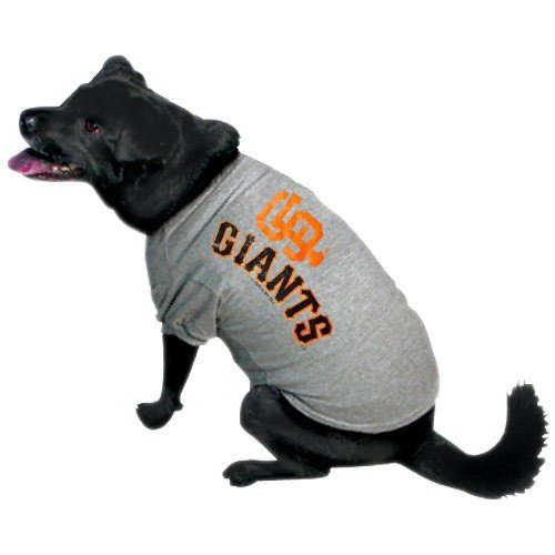 San Francisco Giants Ash Team Logo Pet T-shirt (X-Large)