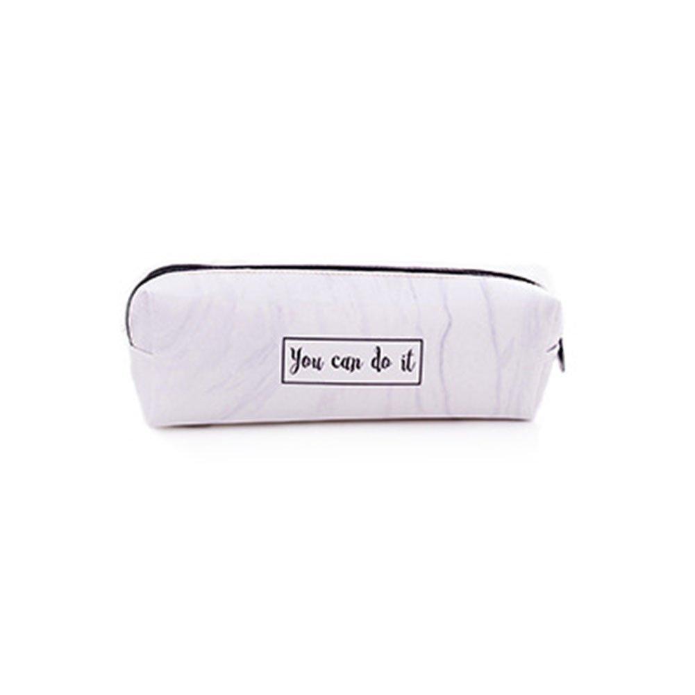 Estuche para l/ápices de estilo simple bolsa de maquillaje para mujeres y ni/ñas color gris estuche de papeler/ía iTemer