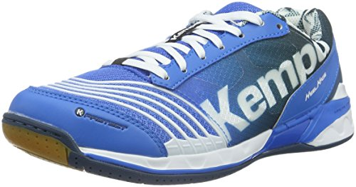 Kempa Attack Two, Zapatillas de Balonmano Unisex Adulto Multicolor (Fair Bleu/Pétrole/Blanc)