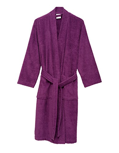 TowelSelections Women's Robe Turkish Cotton Terry Kimono Bathrobe Small/Medium Amethyst Purple