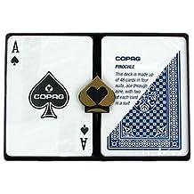 Copag Poker Size Regular Index Pinochle Setup Playing Cards, Multi
