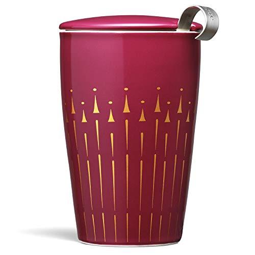 Ceramic Joy (Tea Forté KATI Cup Ceramic Tea Brewing Cup with Infuser Basket and Lid for Steeping, Loose Leaf Tea Maker, Warming Joy)