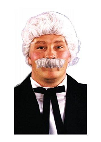 [Mark Twain Wig and Mustache Set] (Mark Twain Costumes)