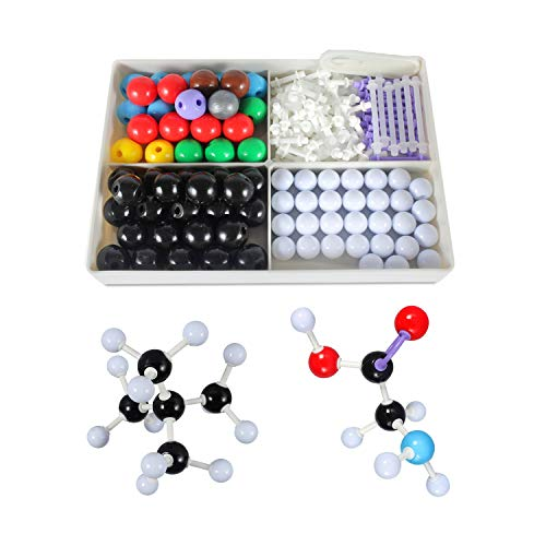 Akeruzi Organic Molecular Model Kit,Universal Version for Students and Teacher,Standard Edition Suitable for Middle Schools 190 Pieces (78 Balls and 111 Sticks)