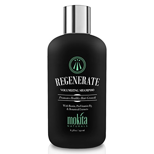 Mokita Naturals Regenerate Hair Growth & Volumizing Shampoo Treatment 8.5 Oz | With Biotin, ProVitamin B5 & Botanical Extracts | Strengthen & Nourish Your Hair, Prevent Hair Loss Thinning & Breakage
