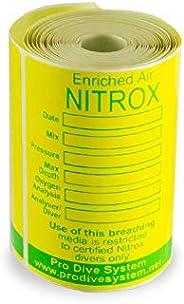 Petite de plongée Nitrox Tank ruban étiquettes 80pcs.