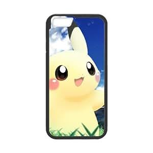 Pokemon Pikachu Anime Movie funda iPhone 6 4.7 Inch caja funda del teléfono celular del teléfono celular negro cubierta de la caja funda EEECBCAAL14933