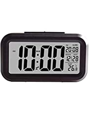 Creative Smart Nightlight Digital Alarm Clock,ShowTop Bedside Desk Table Electronic Clock Battery Operated Mute Luminous Alarm Clock with Adjustable Light for Kids Students