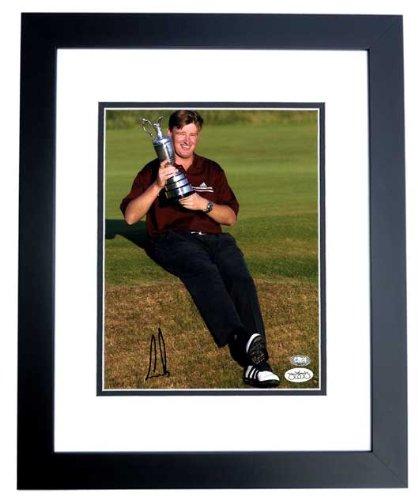 Ernie Els Signed - Autographed Golf 8x10 inch Photo - JSA Stamp of Approval - BLACK CUSTOM FRAME - Sports Memorabilia.com Certificate of Authenticity (COA)