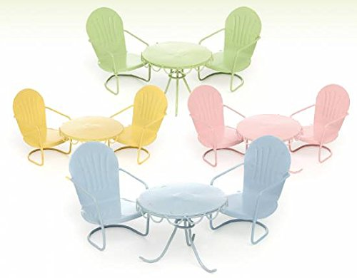 Mg221 Beach Table and Chairs Assorted Colors (Green)