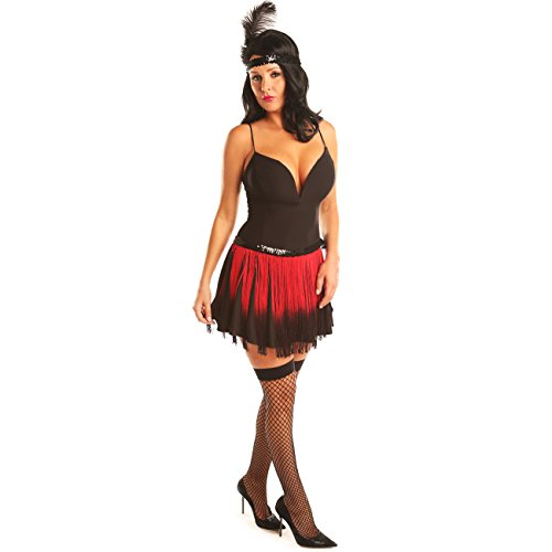 [Disiao Fringe Flapper Dress Short Skirt Costume Set Halloween] (Army Of Darkness Costume)