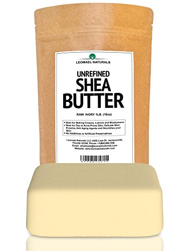 Unrefined Raw African Organic 1LB (16oz) Shea Butter - Pure, Grade A, lvory - Use In or As Raw Skin Food, Sun Care and After Sun Products, Hand and Body Lotions/Gels, Facial Moisturizers, Shaving/Depilatory Preparations,Ointments/Balms, Bath Oils, Li